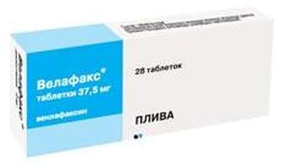 Velafax 37.5mg 28 pills buy racemate of two active enantiomers online