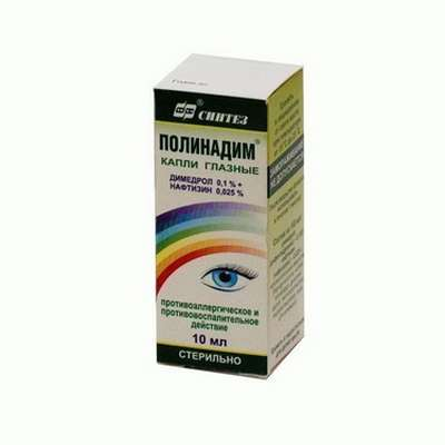 Polynadim eye drops 10ml buy anti-allergic and anti-inflammatory effect